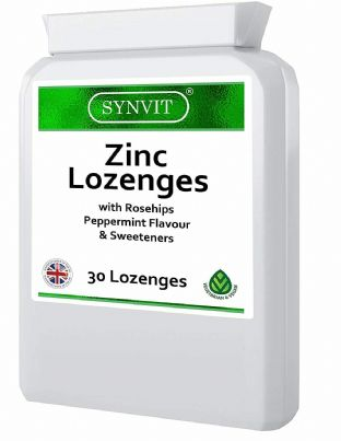 SYNVIT 30 Zinc Lozenges with Rosehips (Peppermint flavour)